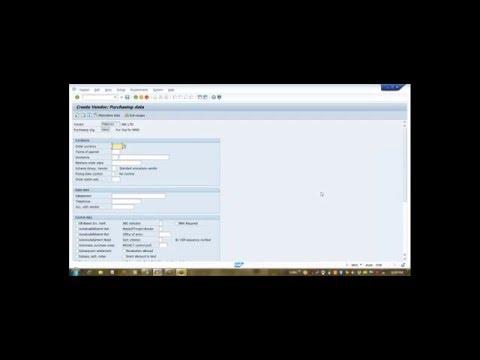 SAP How to create Vendor Master Domestic/ Import Video