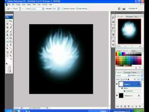 how to make afire ball with photoshop