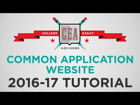How to Guide to the Common Application (2016-2017) | Tutorial