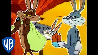 Looney Tunes | Wile E. Coyote Genius vs. Bugs Bunny | Classic Cartoon Compilation| WB Kids