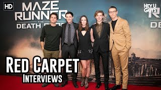 Maze Runner: The Death Cure Premiere Interviews - Dylan O