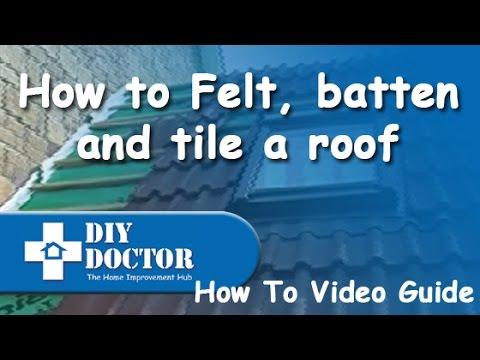 Felt, battening and tiling a roof