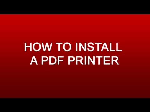How to Install PDF Printer - Auto Save PDF