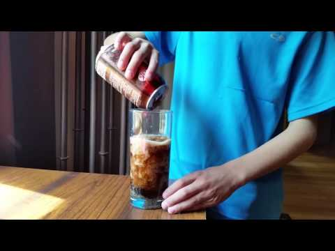 Instant freeze your soda from a can.