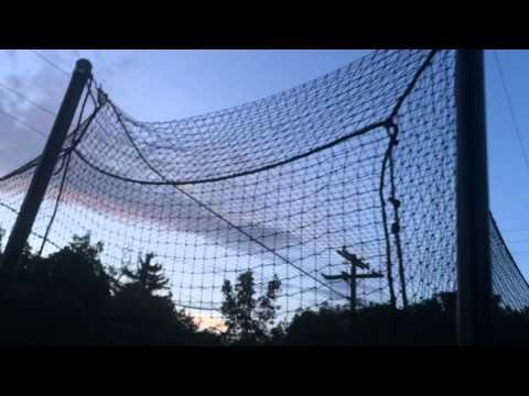 DIY batting cage backyard design