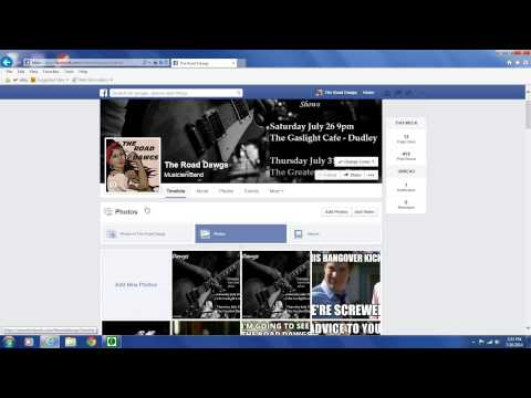 Facebook band page tour