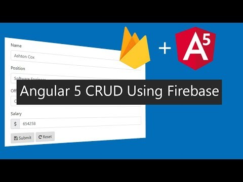 Angular 5 CRUD Application Using Firebase