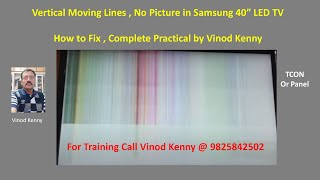 HOW TO SOLVE HORIZONTAL LINE PROBLEM IN LCD / LED TV // TECH PRABU