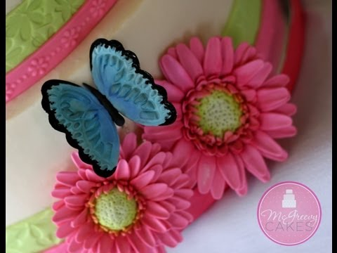How to Make Sugar Butterflies; A McGreevy Cakes Tutorial