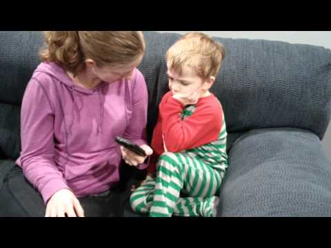 Owen getting an email from Santa 2015