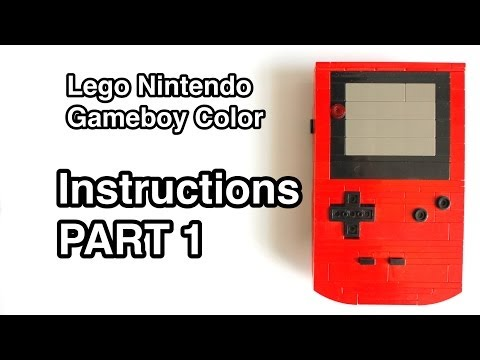 Lego Gameboy Color Instructions Part 1 of 2