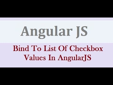 How To Bind To List Of Checkbox Values In AngularJS - Bind Multiple CheckBoxes In AngularJS