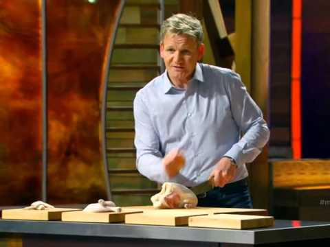 How to cut a whole chicken - Chef Gordon Ramsay in MasterChef US S05E13