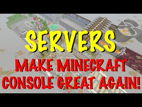 Minecraft Console - SERVERS + REALMS - THE FUTURE OF MINECRAFT XBOX, PS4 & Switch