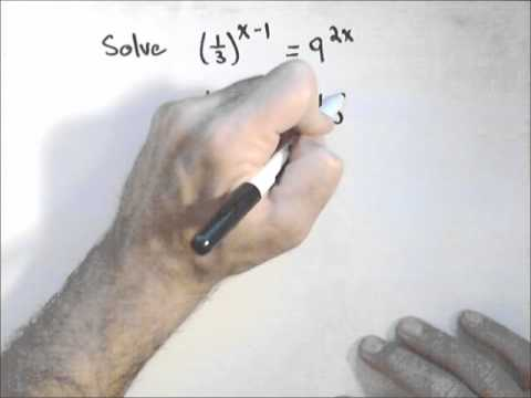 Solving Exponential Equations (Like Bases)