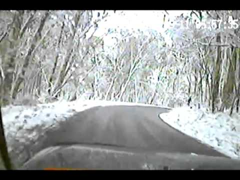 Driving The Alpine Way. Thredbo Snow