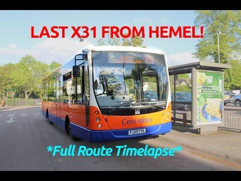 *Timelapse* LAST EVER JOURNEY!   Centrebus South 649 (FJ59FYS)   X31 from Hemel to Chaul End Lane
