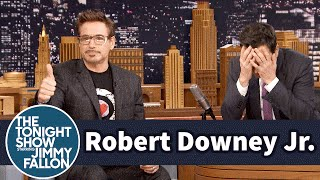 Robert Downey Jr Coaches Jimmy Through Dramatic Acting Scenes