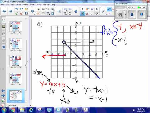 Piecewise function from graph to equation #6