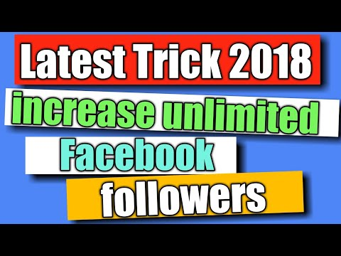 How to increase unlimited facebook followers in hindi | latest facebook  tricks\tips
