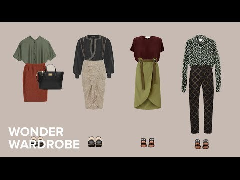Summer capsule wardrobe for the hourglass body shape: a visual guide.