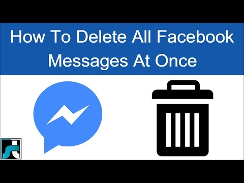 How To Delete All Facebook Messages At Once - 2018