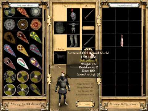 m&b warband: How to get EVERY item in the game