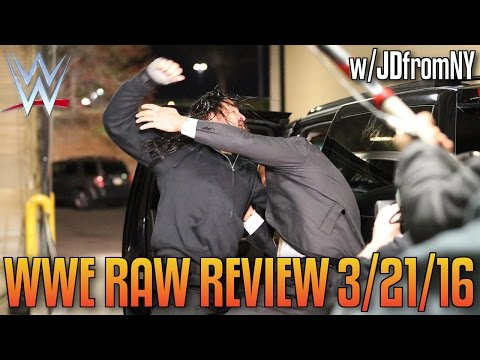 WWE Raw 3/21/16 Review: Mr. McMahon's HUGE Wrestlemania 32 Announcement, Ambrose vs Strowman