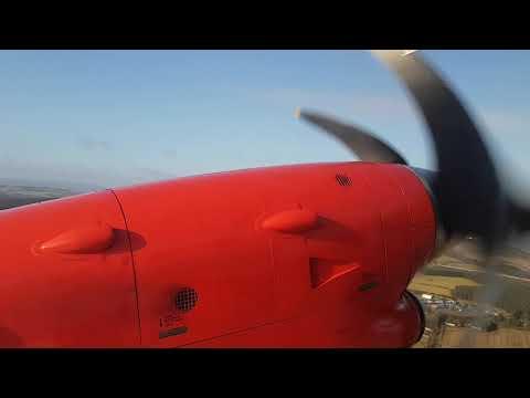 Loganair Saab 340 flight from Aberdeen to Kirkwall, Orkney