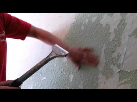 Removing wood chip wallpaper