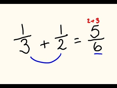 Fractions addition and subtraction trick - do them the fast way!