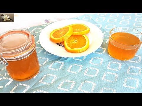 Sirop a l'orange pour gateau/Orange syrup for cake/وصفة الشاربات أو القطر بنكهة البرتقال للحلويات