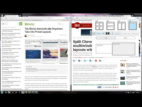 Tab Resize 2.0 [split screen layouts] - Chrome Extension Demo