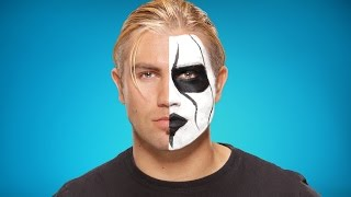 Tyler Breeze transforms into Sting: WWE Halloween Makeup Tutorial