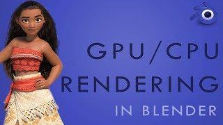How to RENDER with GPU, CPU or BOTH in Blender