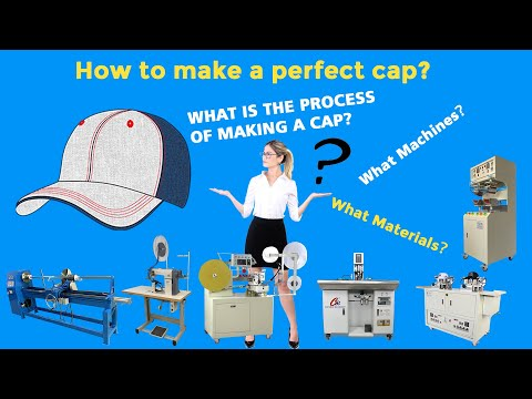 How to make a baseball cap?  How to make a snapback cap ?