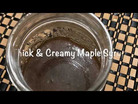 Thick & Sticky Keto Maple Syrup