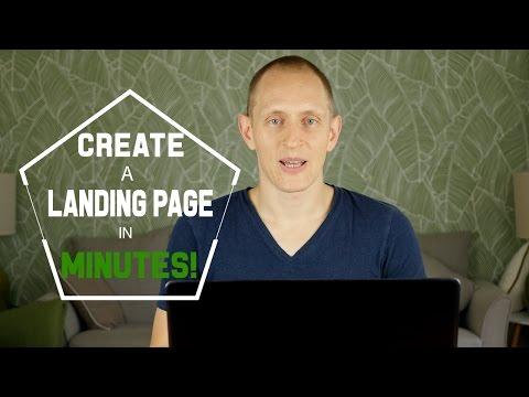 How to Create a Landing Page in Minutes