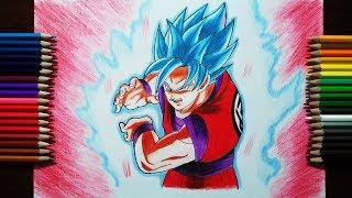 Drawing Goku Super Saiyan Blue Kaioken 10