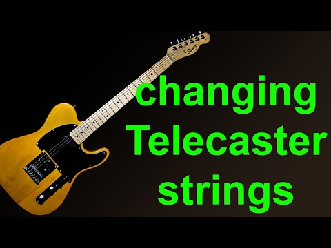 Putting new strings on a Fender Squier Telecaster - How to change guitar strings