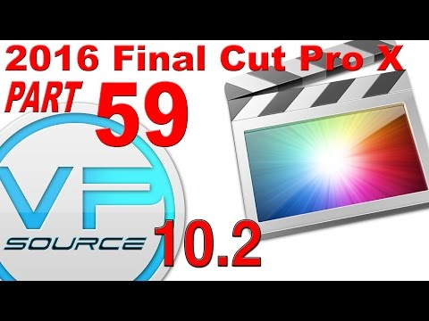 59. How to CREATE GENERATORS & BACKGROUND EFFECTS FCPX 10.2.3 (2016)