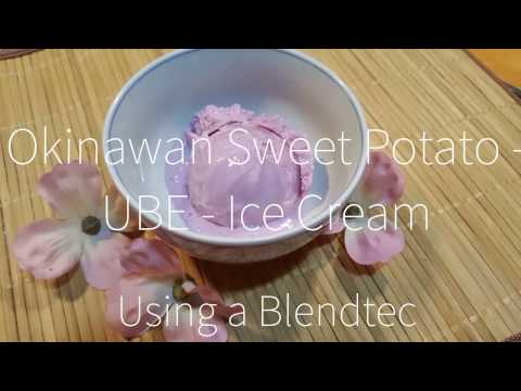 Okinawan Sweet Potato - UBE- Ice Cream USING A BLENDTEC