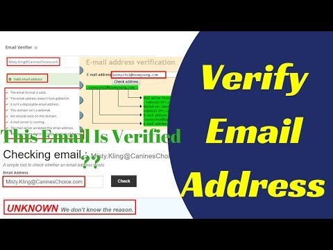 How to Verify Email Address Online | Check Email Address 2018