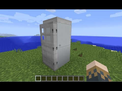 Minecraft: How to make a Fridge that Works - (Minecraft Refrigerator that Works)
