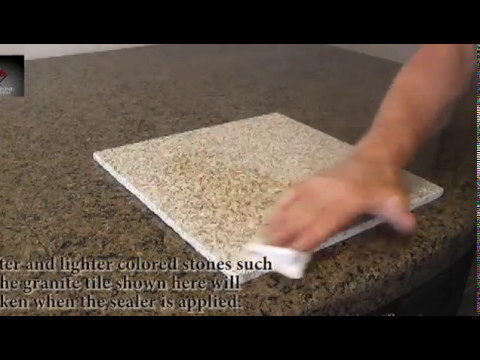 Sealing Granite Tile Countertops
