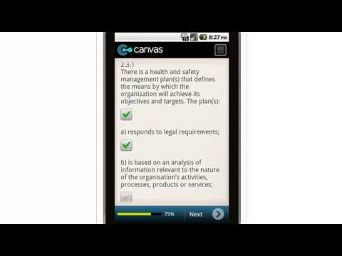Canvas OHS Audit Tool Planning Mobile App