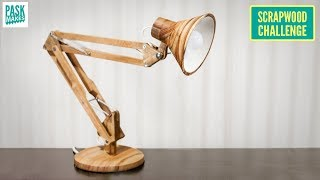 Making an Articulated Desk Lamp - Scrapwood Challenge ep31
