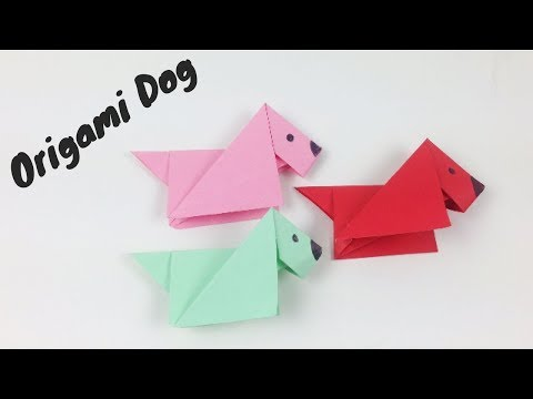 Origami Animals for Kids Step by Step - How to Make an Origami Paper Dog Easy | Origami Dog Tutorial