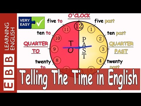 (Very Easy) Telling The Time in English + Click To Learn
