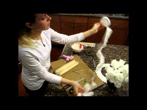 How to Make Flowers.  Roses from Coffee Filters. Realistic and Inexpensive